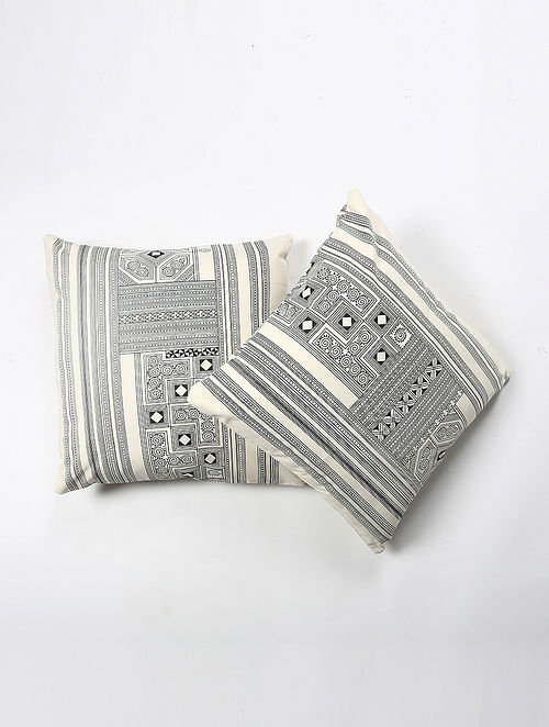 Samik Cotton Printed Cushion Cover Set of 2 (20in X 20in)