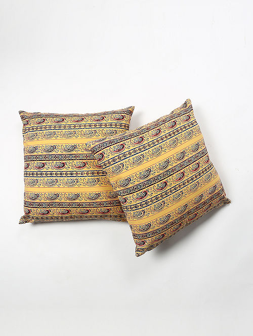 Santie Cotton Printed Cushion Cover Set of 2 (20in X 20in)
