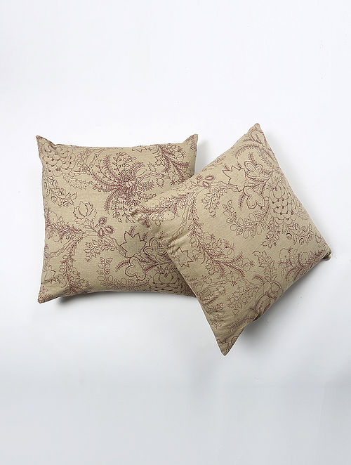Lirens Cotton Printed Cushion Cover Set of 2 (20in X 20in)