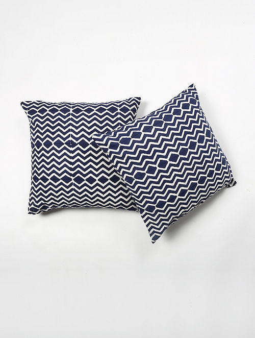 Kiran Cotton Printed Cushion Cover Set of 2 (20in X 20in)