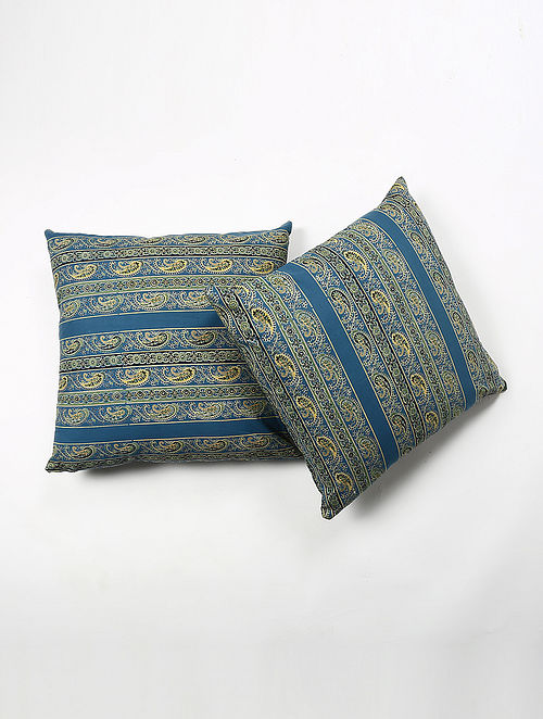Khinyas Cotton Printed Cushion Cover Set of 2 (20in X 20in)