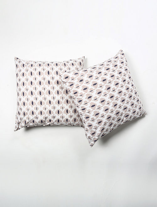 Jakhera Cotton Printed Cushion Cover Set of 2 (20in X 20in)