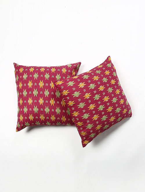 Rajapura Cotton Printed Cushion Cover Set of 2 (20in X 20in)