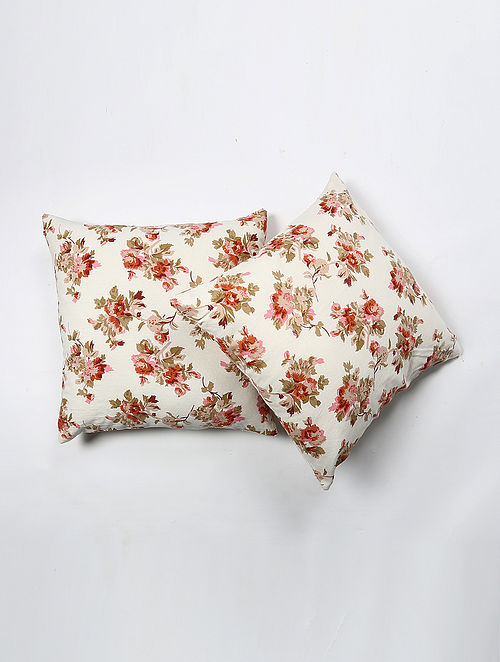 Dedwan Cotton Printed Cushion Cover Set of 2 (20in X 20in)