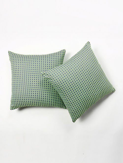 Kathoti Woven Printed Cushion Cover Set of 2 (20in X 20in)