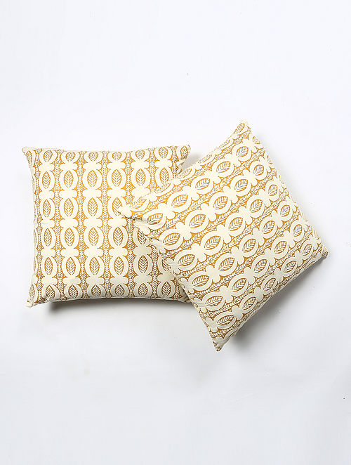 Janwasie Cotton Printed Cushion Cover Set of 2 (20in X 20in)