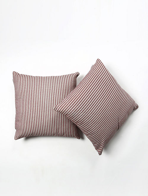 Bardae Cotton Printed Cushion Cover Set of 2 (20in X 20in)