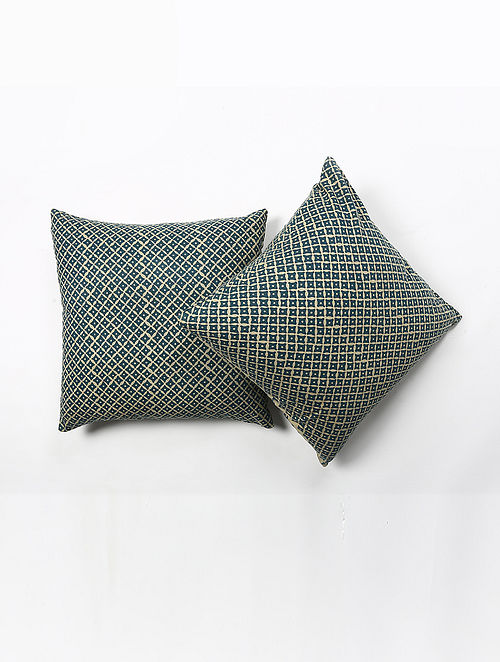 Bhuwana Cotton Printed Cushion Cover Set of 2 (20in X 20in)