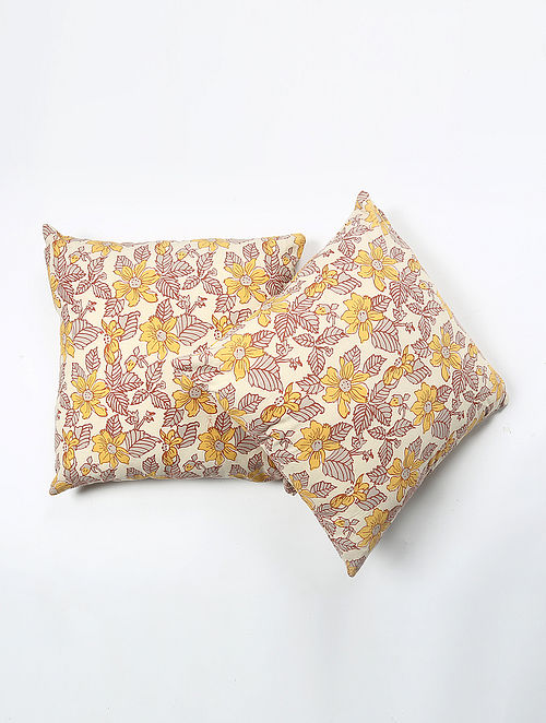 Bhuhangs Cotton Printed Cushion Cover Set of 2 (20in X 20in)