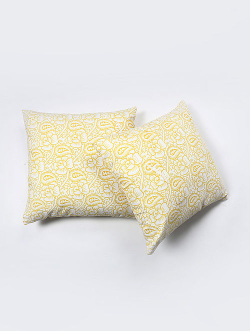 Kalsot Cotton Printed Cushion Cover Set of 2 (20in X 20in)