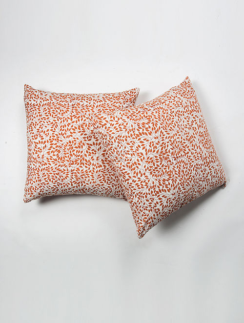 Lalsot Cotton Printed Cushion Cover Set of 2 (20in X 20in)