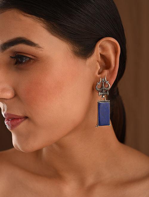 BlueTribal Silver Earrings