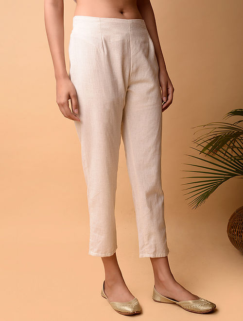 Off White Cotton Pant