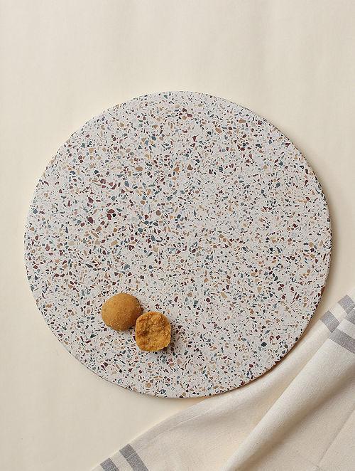 Grey Marble Pachikari Cheese Platter (Dia - 12in)