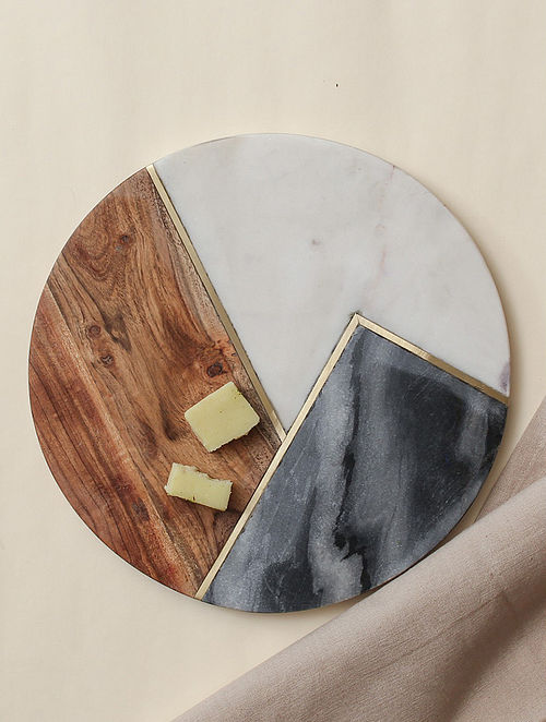 Brown Marble Cheese Platter (Dia - 10in)