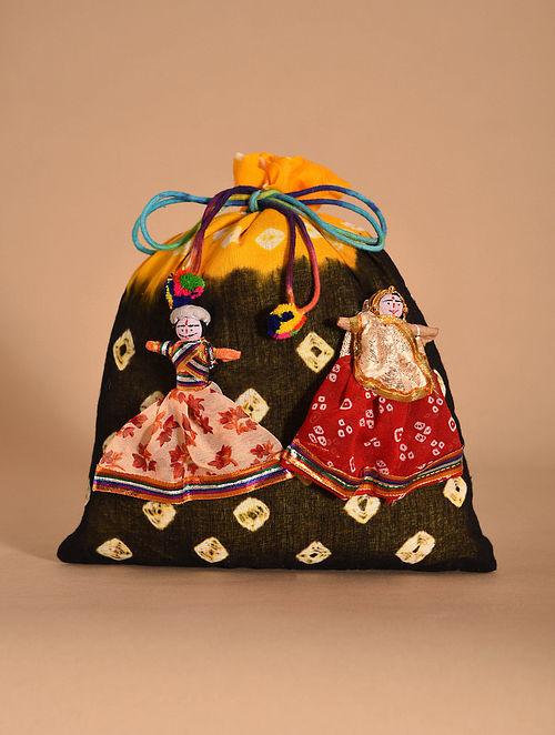 Multicolored Handmade Bandhani Cotton Potli