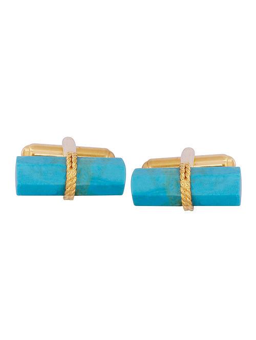Turquoise Bar Cufflinks