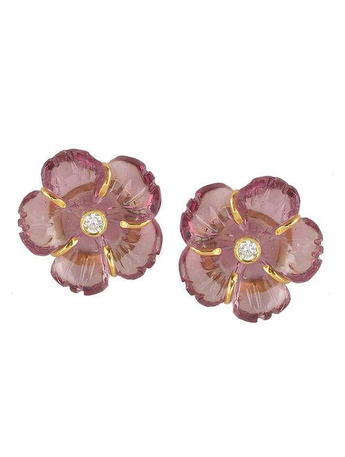 Mini Pink Floral Studs