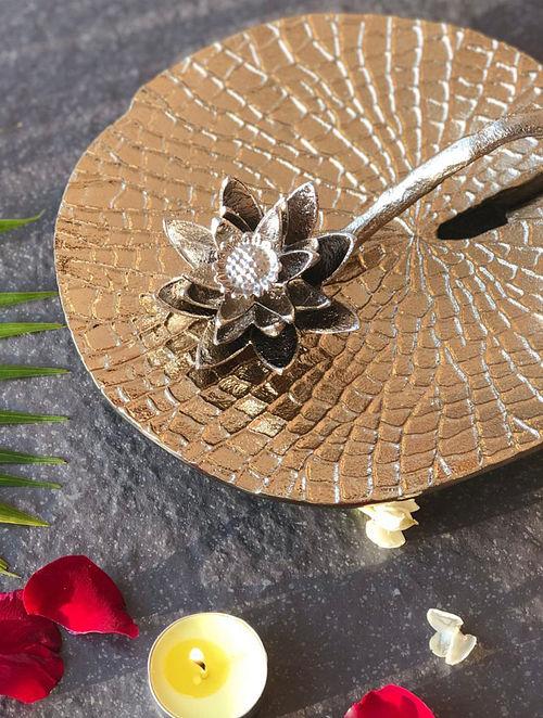Champagne Gold Lotus Napkin Holder (Dia-8in)