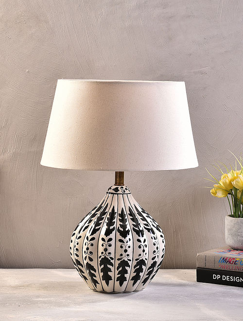 Black Ceramic Table Lamp With Shade