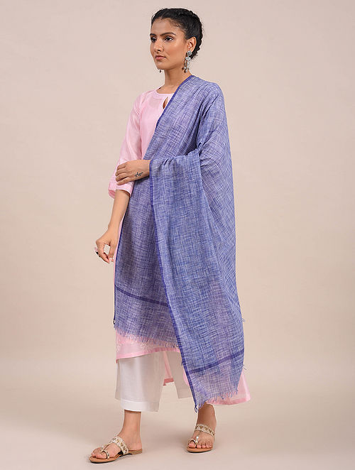 Blue Handwoven Cotton Scarf