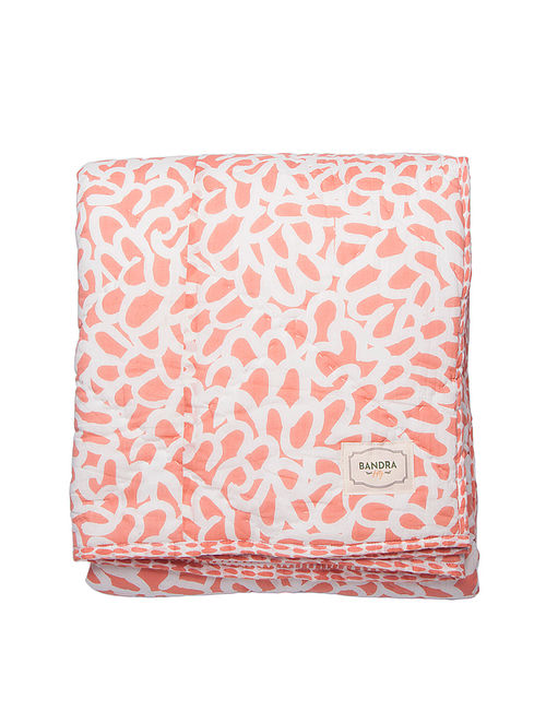 Soli Salmon Pink Quilt(L-60in,W-90in)