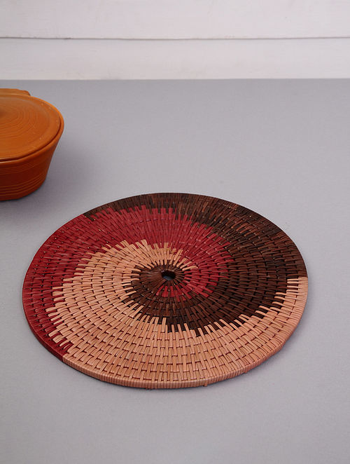 Palm Leaf Handcrafted Wine Wall plates(L-14in, W-14in)
