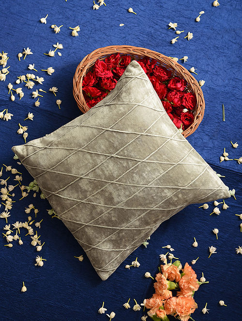 Grey Velvet Cushion Cover (16inX16in)