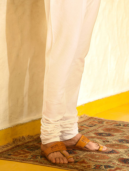 White Elasticated Waist Cotton Churidar