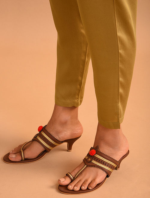 Gold Elasticated Waist Modal Pants