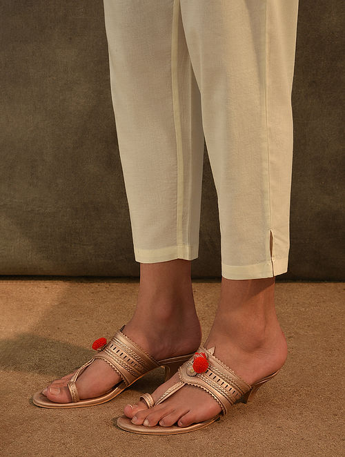 Ivory Elasticated Waist Cotton Pants