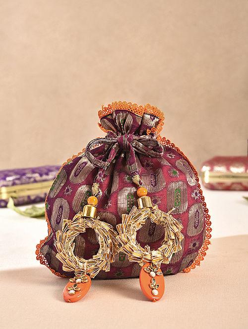 Purple Handcrafted Vintage Brocade Potli