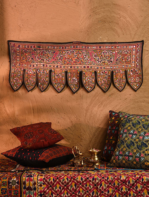 Vintage Embroidered and Embellished Toran (L - 38in, W - 14.5in)
