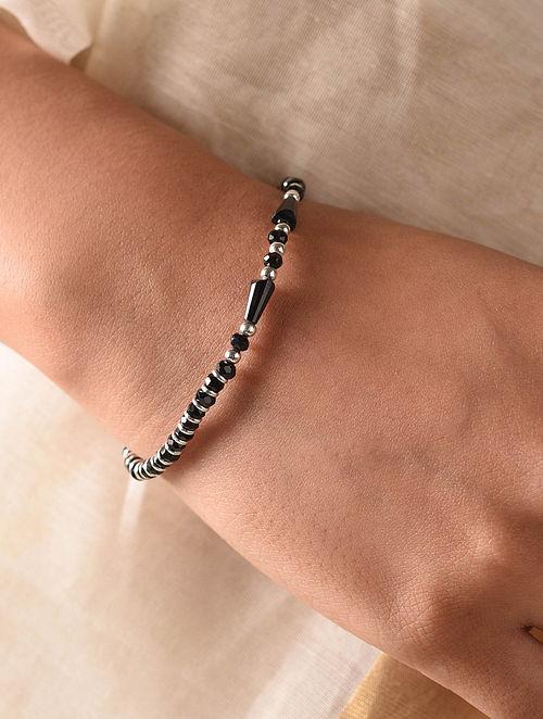 Black Tribal Silver Nazariya Bracelet