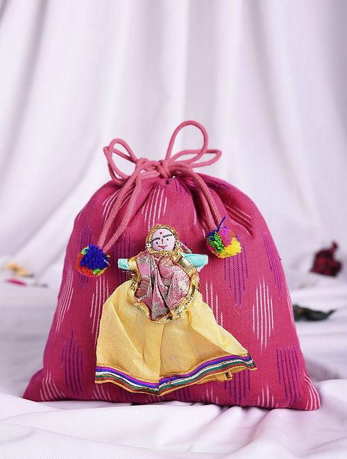 Multicolored Handmade Ikat Cotton Potli
