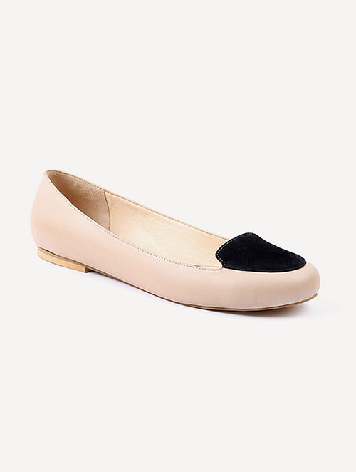 Nude Black Handcrafted Suede Leather Shoes