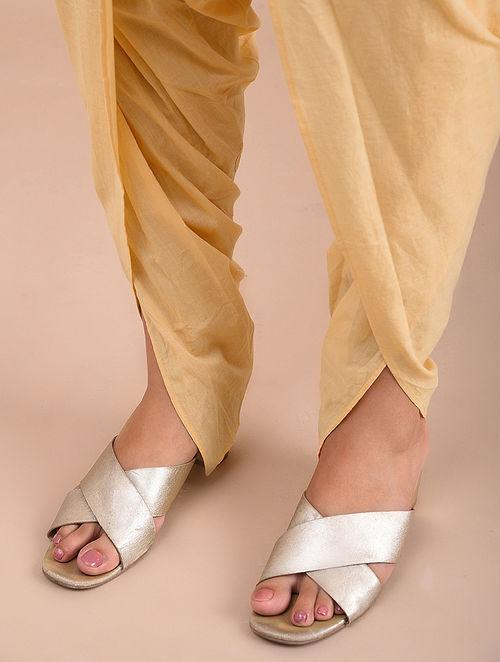 Beige Cotton Dhoti Pants