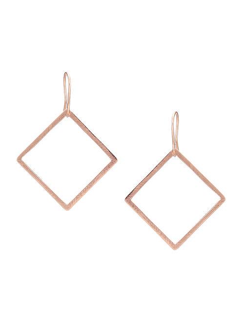 Rose Golden Silver Earrings