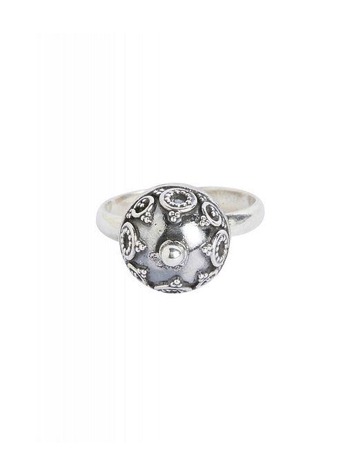 Tribal Sterling Silver Adjustable Ring