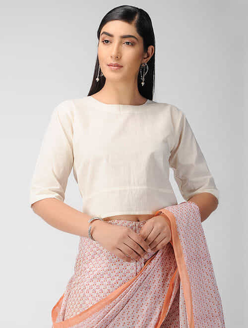 Ivory Cotton Blouse