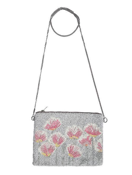 Grey Handcrafted Sling Bag