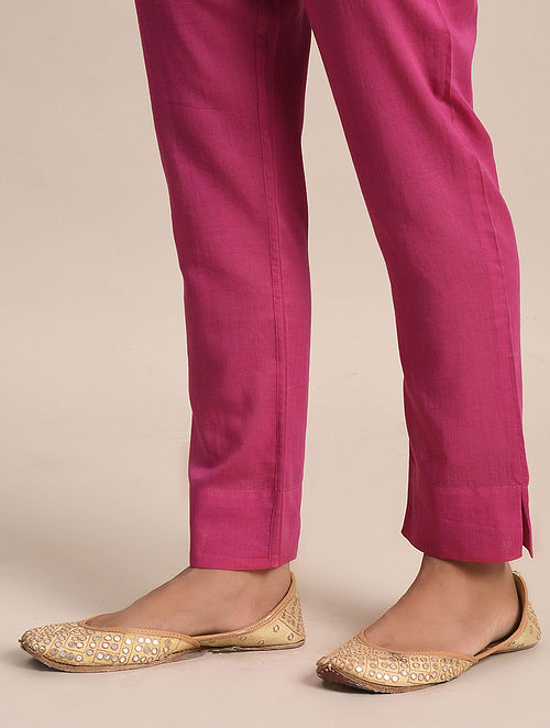 Fuschia Cotton Pants