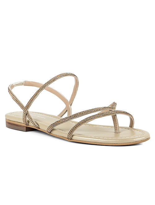 Gold Handcrafted Leather Sandals