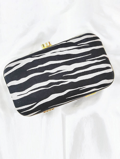 Black Handcrafted Cotton Clutch