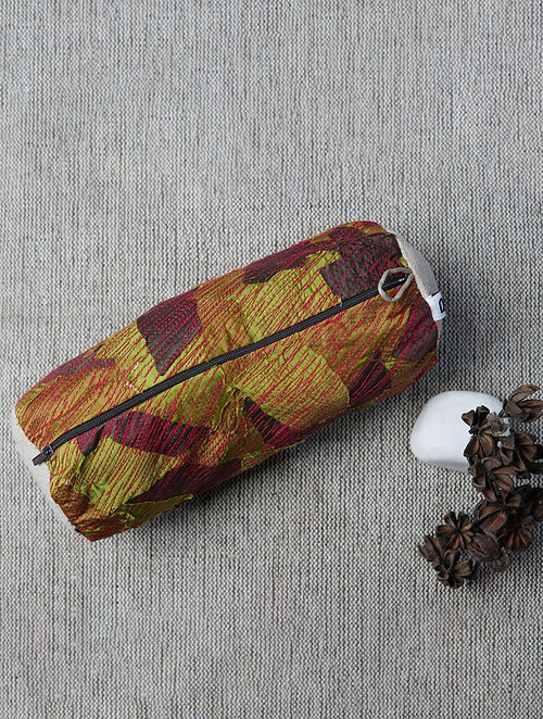 Multicolored Upcycled Handwoven Jute Pouch