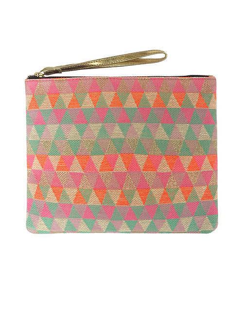 Multicolored Handcrafted Cotton Pouch