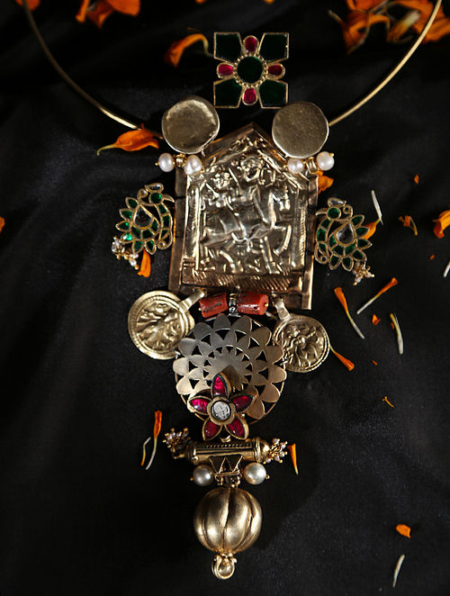 Nadiya-Vintage Silver Necklace