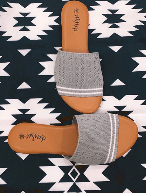 Grey Handcrafted Vegan Leather Flats