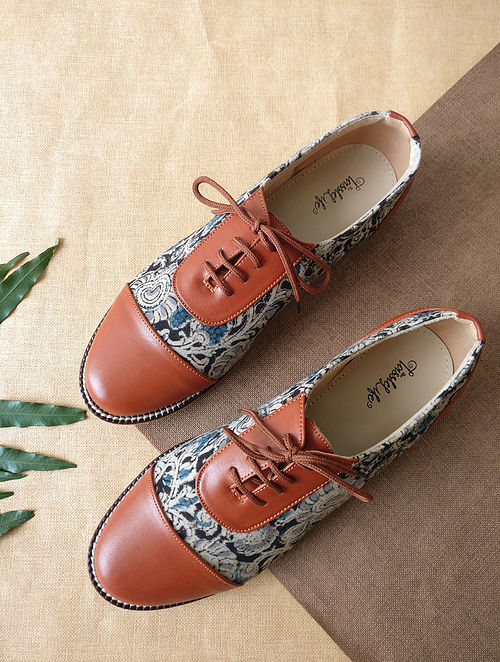 Multicolored Handcrafted Kalamkari Faux Leather Shoes