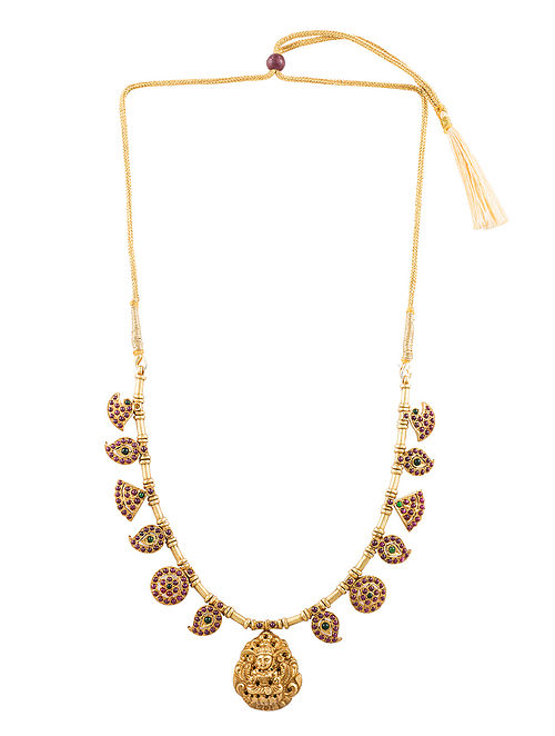 Red Gold Plated Silver Necklace